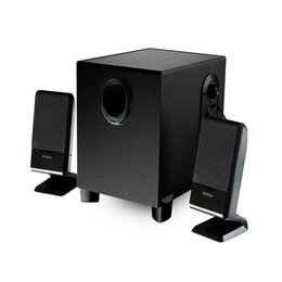 Wholesale Box Dvd China - 2017 new wholesale and retail desktop computer speakers 2.1 multimedia active subwoofer wood sound good gift + speaker