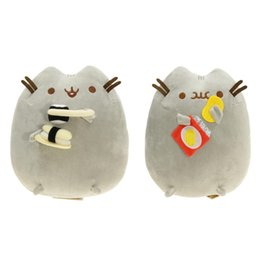 """Wholesale Movies For Cats - Hot New 2 Styles 9"""" 23CM Potato Chips Sushi Plush Doll Pusheen The Cat Anime Collectible Stuffed Dolls Soft Gifts For Children Toys"""