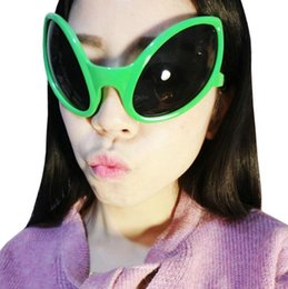 Wholesale Funny Eye Glasses - Alien Eyes Shaped Glasses Funny Party Dance Glasses Novelty Glasses Halloween Party Photobooth Props Favors 50pcs OOA3041