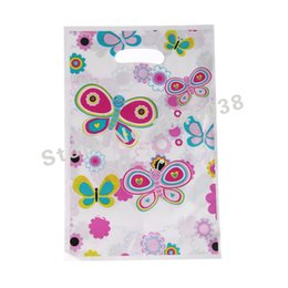 Wholesale Shopping Bags For Kids - Wholesale- 12pcs Loot Bag for Kids Birthday festival Party Decoration ButterfliesFluttering Theme Party Supplies CandyBag Shopping Gift Bag
