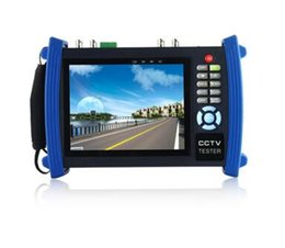 Wholesale Cctv Tester Dhl - DHL Free shipping HVT-3600 7 inch LCD Screen CCTV Security Camera Tester Monitor IP scan cable scan HDMI input PoE test ANN