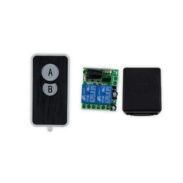 Wholesale Electric Lock Remote Control - Wholesale- 433MHz 315MHz 12V wireless remote control switch+receiver+shell for electric door lock can control 2 doors up to 50m-SL321