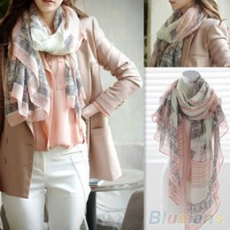 Wholesale Eiffel Tower Shawl - Wholesale- Hot Voile Soft Long Scarf Women Eiffel Tower Printed Wrap Shawl Stole Scarves 2262
