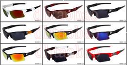 2019 популярные очки лето мужчины популярные половина кадра солнцезащитные очки спортивные очки Женщины Велоспорт открытый солнцезащитные очки езда вождения очки 9 цветов бесплатная доставка скидка популярные очки