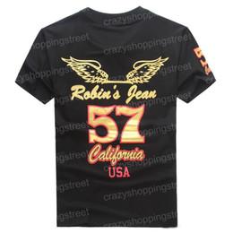 Wholesale Long Shorts Jeans For Men - 2017 New Fashion United States tide brand Robin jeans mens t shirts men's short sleeve designer clothing Tshirts for men