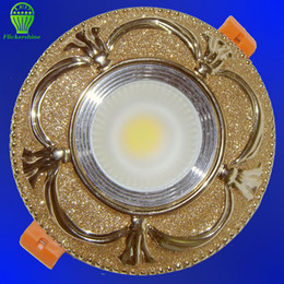 Wholesale White Resin Ceiling Light - Wholesale- High life span led downlight ceiling lamp light 10W 12W 15W resin gold led lighting for living room, dining room