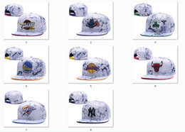 Wholesale Top Wholesale Snapbacks - New Caps Basketball Snapback Leather Hats White Color Cap Football Baseball Team Hats Mix Match Order All Caps Top Quality Hat Wholesale