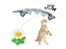 Wholesale Flying Puppies - Butterfly Cat Toy Electric Rotating Butterfly Flying Butterfly for Kitten and Puppy Funny Toys