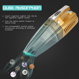 Wholesale High Pressure Vacuum Pump - Wholesale- Newest Car Vacuum Cleaner 100W 4 IN 1 High-Power Super Wet & Dry Suction Dust Buster With Inflatable Pump Tire Pressure Gauge