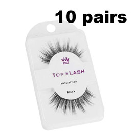 makeup black hair Coupons - 10 Pair Women Eyelashes Natural Black Thick Soft Long Handmade False Eyelashes Luxurious Real Mink Hair Makeup Extension Beauty Tools