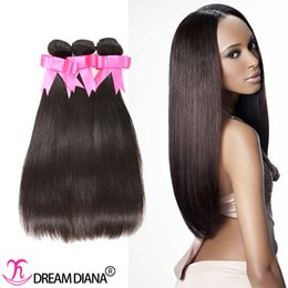 Wholesale Indian Remy Hair 34 - Straight Hair Weaves Brazilian Virgin Hair Extensions Remy Human Hair Weave 3 Bundles 300g Natural Color Can Be Dyed Can Be Permed