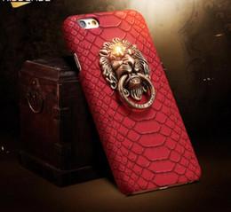 Canada Pour iphone 7 Plus Couverture Sexy Snake Skin Phone Case Pour Apple iPhone 6 6S Pour iPhone 6 6S Plus 3D Lion Head Stand Cover Fundas Offre