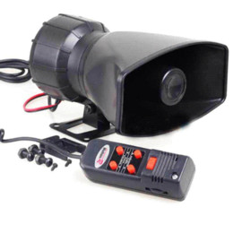 Wholesale Loud Car Alarm Horn - Motorcycle Car Auto Vehicle Van Truck 5 Sound Tone electronic Loud Horn Siren Police Firemen Ambulance Warning Alarm Loudspeaker