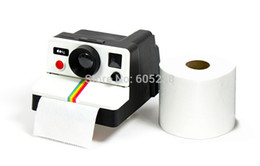 Wholesale Hung Toilets - Wholesale-Free shipping 1 Piece Retro Polaroid Camera Shape Inspired Toilet Roll Box   Toilet Paper Holder