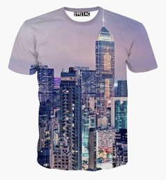 Wholesale Night Shirt Men - Hong Kong City Night Scenery 3d t shirt women men harajuku tshirts casual short sleeve tees tops camiseta feminina