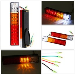 Wholesale Led Universal Truck Tail Lights - LED Stop Rear Tail Brake Reverse Light Turn Indiactor 12V 24V ATV Truck Trailer Lamp