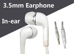 Cuffie Cuffie auricolari In-Ear con microfono e cuffie stereo da 3,5 mm per Samsung Galaxy S7 S6 S5 S4 da mp4 s5 fornitori
