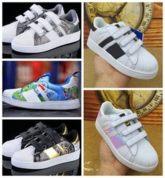 Wholesale Eva Children Flats - 2017 top Quality Superstar Head Sneakers Children Sport Shoes Running Shoes for kids boys sneakers and girls casual shoes free shipping