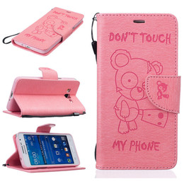 Wholesale Galaxy Grand Leather - For Samsung Galaxy Grand Prime G530H G530FZ Case Fashion Cartoon PU Leather Wallet Flip Sand Case Book Style & Stand and Card Holder