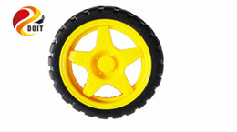 Wholesale Kits Toys Car Control - Wholesale- Official DOIT Free shipping 68mm Smart Car Wheel for Tank Chassis Esp8266 DIY RC Toy Smart Car Tyre for TT Motor Remote Control