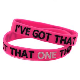 Wholesale Parties Things - Wholesale 100PCS Lot ONE DIRECTION I've Got That One Thing Silicon Bracelet, Perfect To Use In Any Benefits Gift
