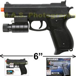 "Wholesale Laser Guns Pistol - NEW 6"" BERETTA AIRSOFT PISTOL GUN POINTING LASER INCLUDED UKARMS M777R 6MM BB"
