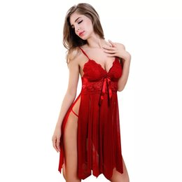 Wholesale Lady Sexy Lingerie Uniform - New style Europe and the United States Code gauze underwear perspective uniform temptation Lingerie Sexy Lady split