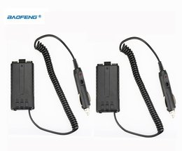 Wholesale Cheap Baofeng Radio - Wholesale- Cheap 2pcs BAOFENG UV-5R Car Charger For UV 5R UV-5RB UV-5RA Two Way Radio CB Walkie Talkie Battery Eliminator UV5R Accessories