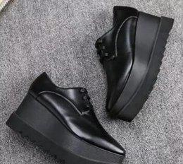 Wholesale Clear Wedges Shoes - 2017 New wholesale Stella Mccartney Oxford Shoes Wedge Platform Women shoes Fashion Elyse