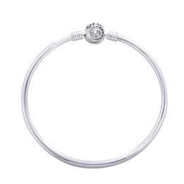 corsage armbänder großhandel Rabatt 2017 europa Beliebte 925 Sterling Silber Armreif Modeschmuck Silber Hochzeit Armband Mit Zirkon Für Frauen