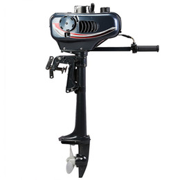 Wholesale boat coolers - Updated 3.5HP Outboard Motor 2 Stroke Boat Engine Water Cooled 40LBS 2.5KW Trolling Thrust Fishing