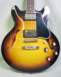 Wholesale Electric Guitars Vintage Sunburst - best selling Figured Vintage Burst Electric Guitar free shipping