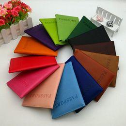 Корейский владелец паспорта онлайн-Высокое качество корейский стиль 11 цветов держатель паспорта кошельки держатели карт обложка чехол протектор искусственная кожа держатели проездных карт