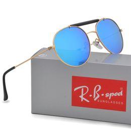 Wholesale Vintage Sunglasses Sale - Brand designer Polarized Sunglasses Man Woman metal framen ray sun glasses hot sale vintage driving glasses uv400 Eyewear with box and caes