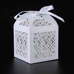 Wholesale Box Marriage - 100PCS set free shipping Flowers Floret Laser Cut Wedding Candy box Paper Sweet Holder Gift Box Home Party Favors Decoration