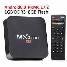 Wholesale Smart Box Hdmi - rk3229 mxq pro 4K Ultimate HD Android 6.0 smart tv box 1gb 8gb Quad Core 2.0GHz Hardware Decoding WIFI Miracast