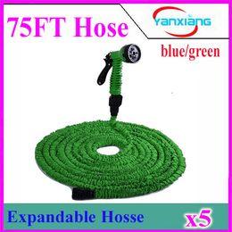 Wholesale Sg Water - 75 FT HOSE Expandable & Flexible Water Garden Hose Flexible Water Hose with valve and Spray Nozzle 5pcs ZY-SG-02