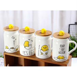Wholesale Coffee Cupping Spoon - White Ceramic Mugs With Spoon With Cover Creative Cartoon Pattern Handgrip Resistant High Temperature Coffee Cup 2017 Fashion Home Drinkware