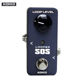 Efeito pedal looper on-line-Acessórios para Peças de Guitarra KOKKO FLP2 Mini SOS Pedal de Looper Pedal portátil Pedal de efeito de guitarra