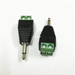 Mini enchufe de video online-100 Unids Video AV Balun 3.5mm 2 Polos Mono Macho a Terminal de Tornillo AV Jack 3.5 mm Macho 2 Pin Terminal Bloque de Conector Conector