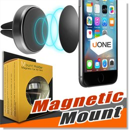 Wholesale car mounting - Car Mount Air Vent Magnetic Universal Car Mount Phone Holder for iPhone 7 Plus One Step Mounting Reinforced Magnet Easier Safer Driving