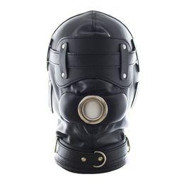 Wholesale Adult Hood - Bondage Gear BDSM Restrain Full Cover Hood Mask Faux Leather Dog Slaves Mask Sex Toys For Adult Sex Game