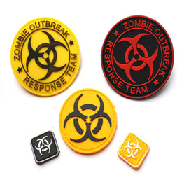 Wholesale Zombie Patches - Zombie Outbreak Response Team Badge Resident Evil Patch Umbrella Army Hook And Loop PVC 3D Tactical Patches Armband free ship