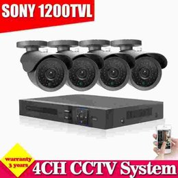 Wholesale 3g Cctv Surveillance Camera - video surveillance system 4ch 960H CCTV AHD DVR HVR NVR system Sony CCD 1200tvl security camera system with hdmi 1080p 3g wifi