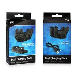 controlador de carga ps4 Rebajas 2 en 1 base de carga dual Cargadores de estación Cargadores dobles para Sony PS4 Controlador inalámbrico PS3 Controladores PS3 Playstation 3 4 venta
