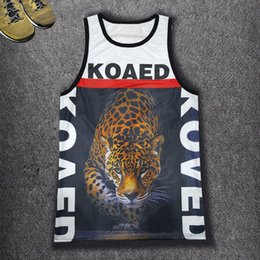 Wholesale Tank Top Leopard Print Man - Wholesale- New Men's Summer Vest Harajuku 3D KOAED Cheetah Printed Hip hop Tank Tops Men Sexy Sleeveless Mesh Casual Punk Clubwear Vest