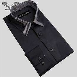 Wholesale Xxl Dress Western - Wholesale- European Size S-XXL Men's Shirts Casual Mens Long-sleeved Dress Shirt Slim Cotton Western Social 2016 New Boutique N1062
