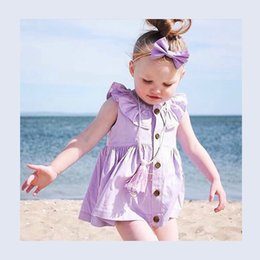 Wholesale Infant Girl Cardigans - 2017 Newest Girl Summer Dress Infant Baby Girl Cardigan Dress Kids Soft Cotton Dress Can Wear Two Sides