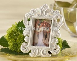 Wholesale Elegant Wedding Photo Frame White - 100pcs lot Baroque Elegant Place Card Holder Photo Frame wedding gift for guests Free shipping By DHL