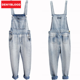 Wholesale Man Cotton Overalls - Wholesale-2016 Mens Bleach Wash Jumpsuit Denim Overalls Men Baggy Cargo Pants with Suspenders Denim Bib Overalls For Men 33143